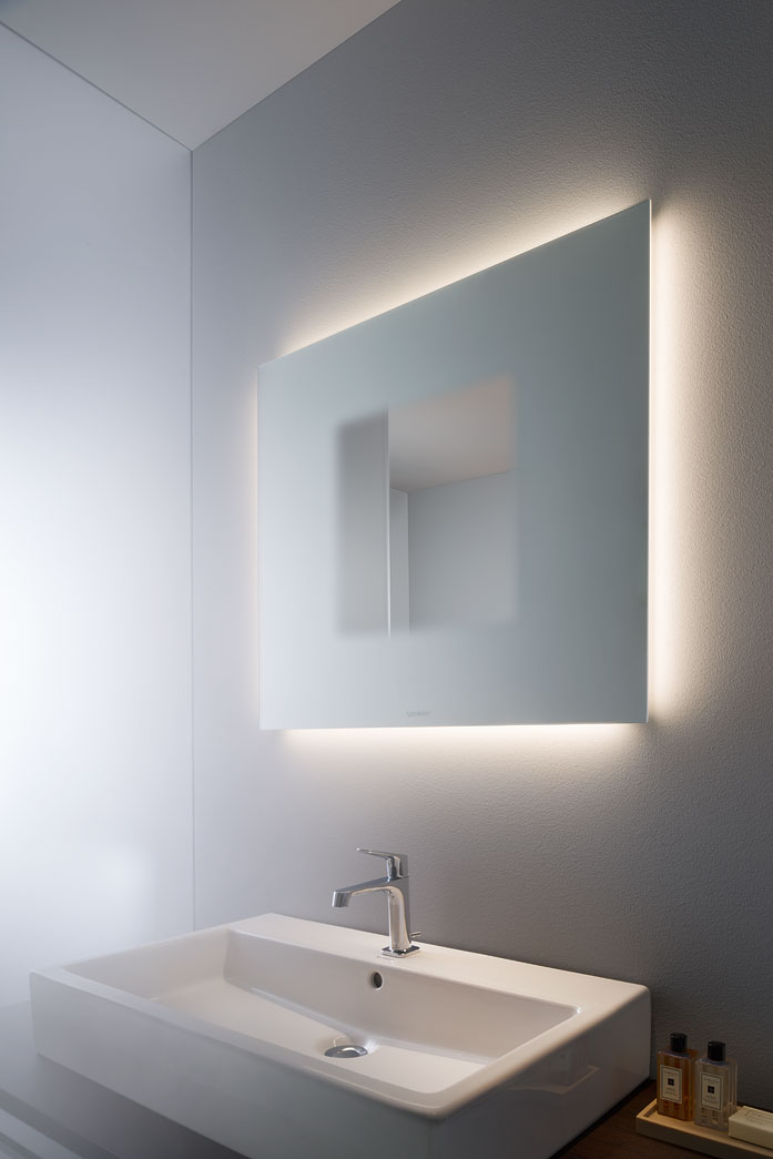 Light and mirror design bathroom mirrors duravit ambient light mozeypictures Images